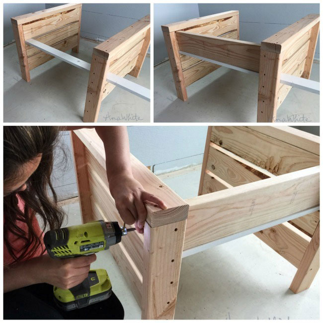 simple modern outdoor chair assembly
