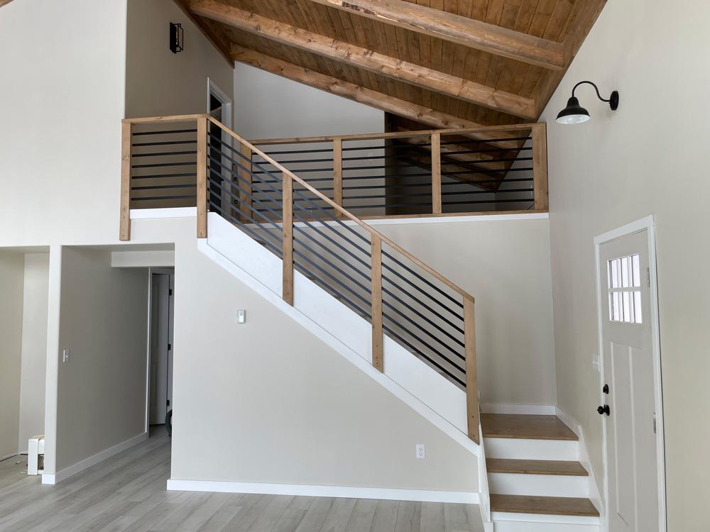 diy staircase handrail