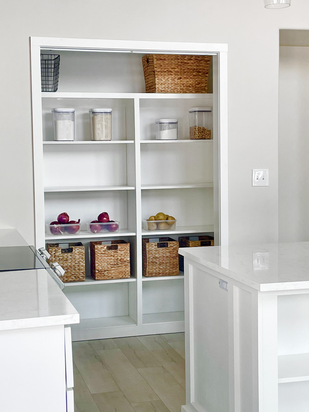 built in pantry shelving