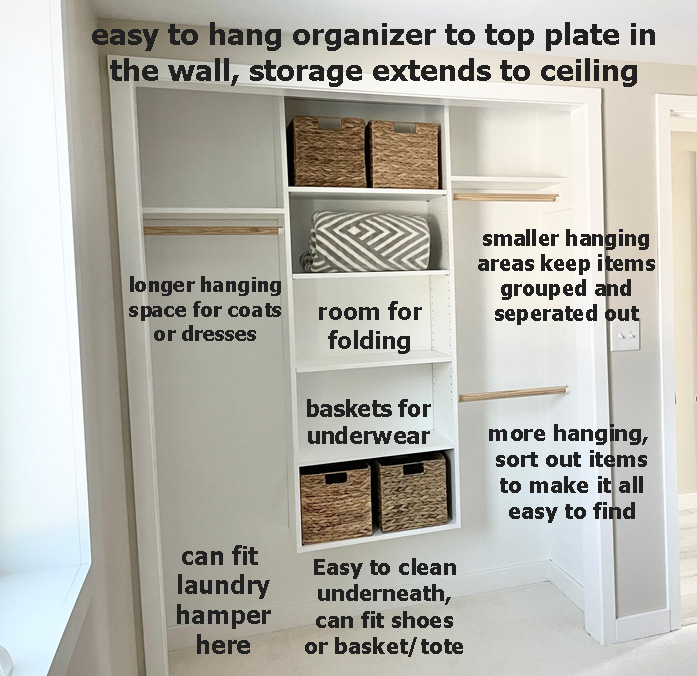 organizing a kids closet