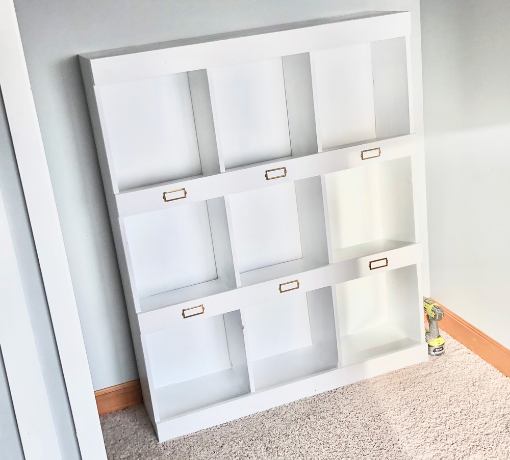 cubby bookshelf white