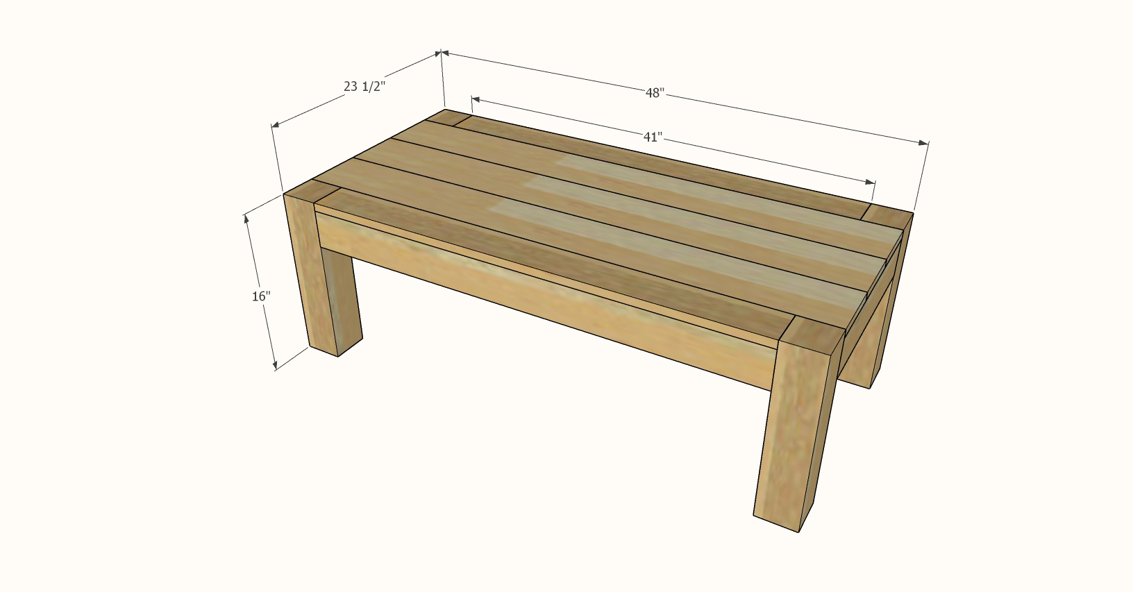 parsons coffee table rectangle