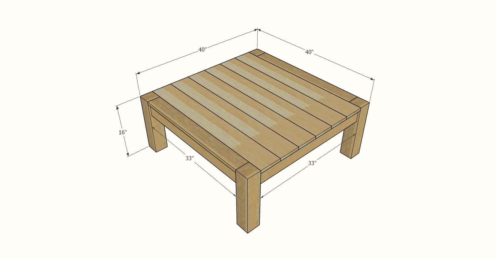 parsons square coffee table