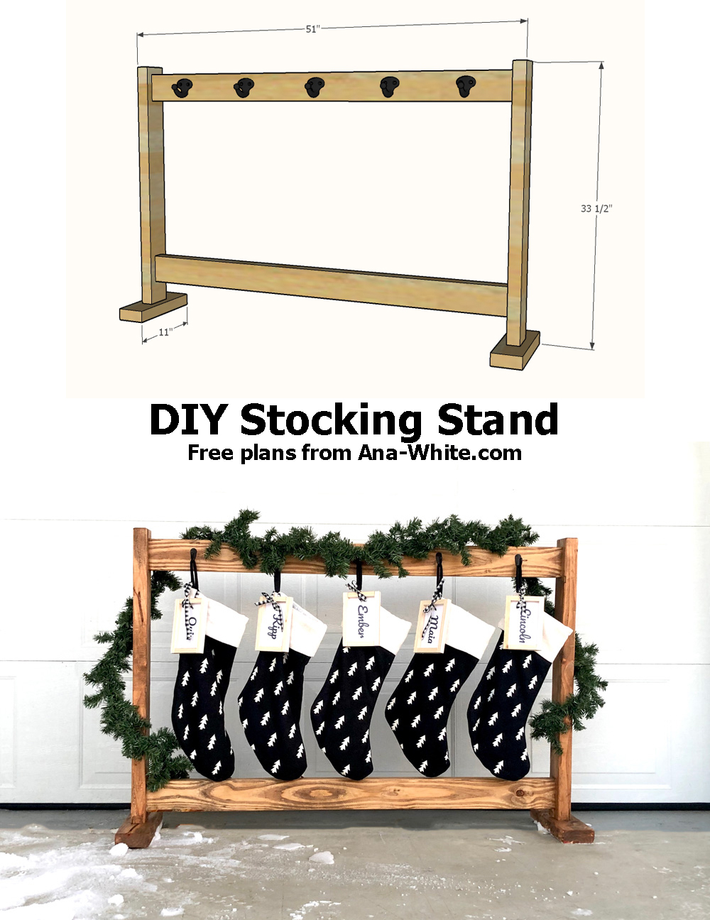 diy stocking stand