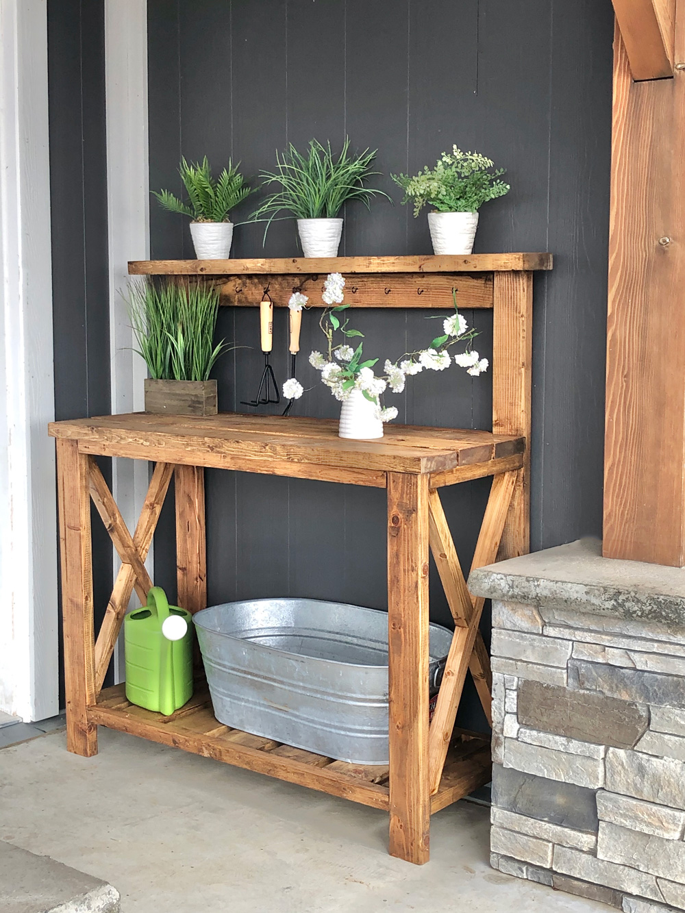 Farmhouse Potting Bench Ana White
