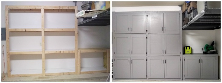 garage shelving with doors