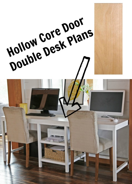 hollow core desk diy plans by ana white