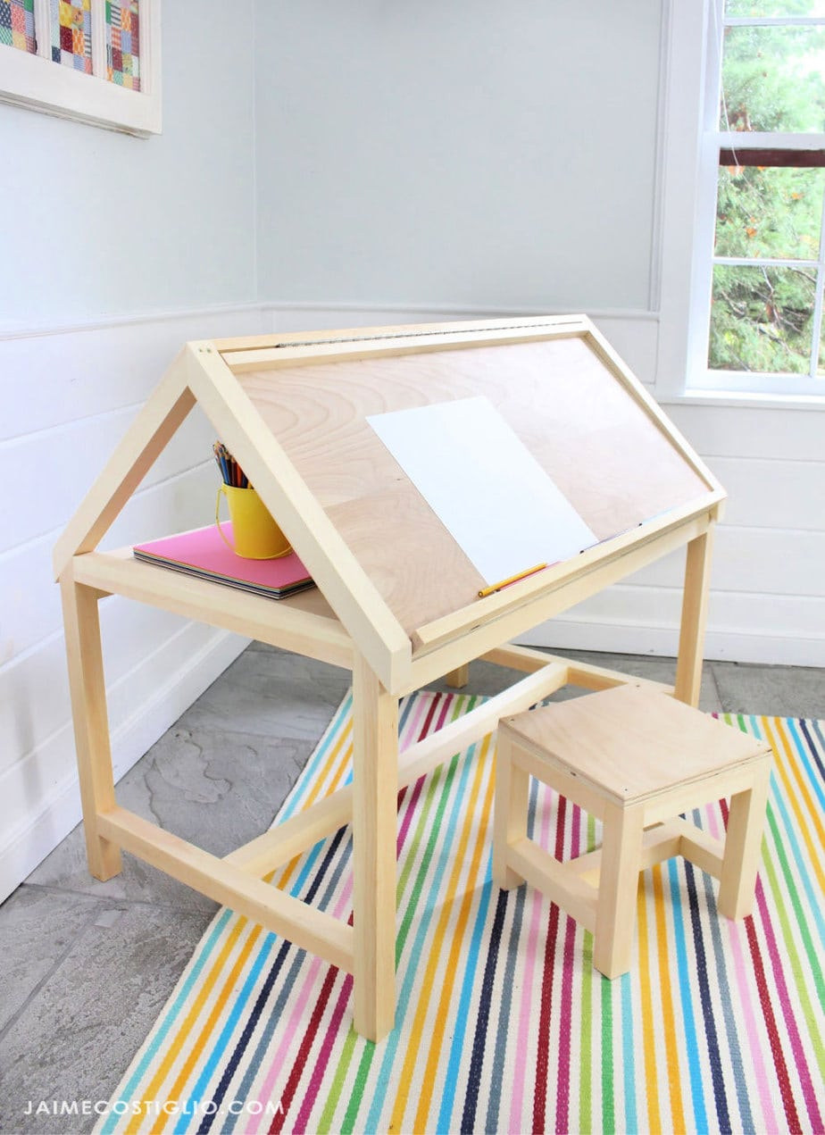cute kids art desk