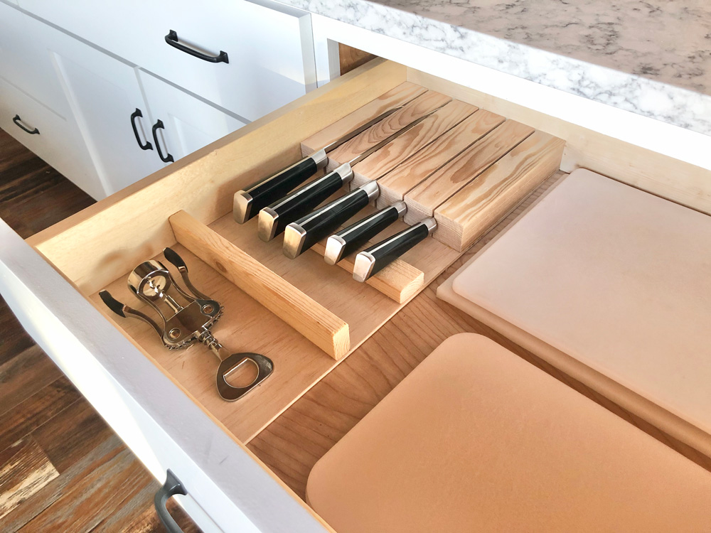 diy in drawer knife holder