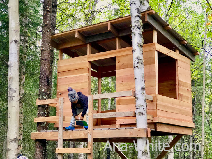 building a kids treehouse