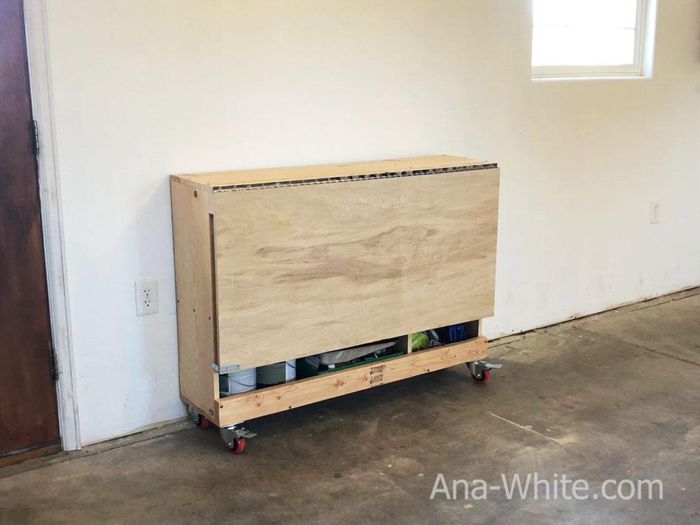 Folding Workbench Ana White - Diy Fold Down Work Table