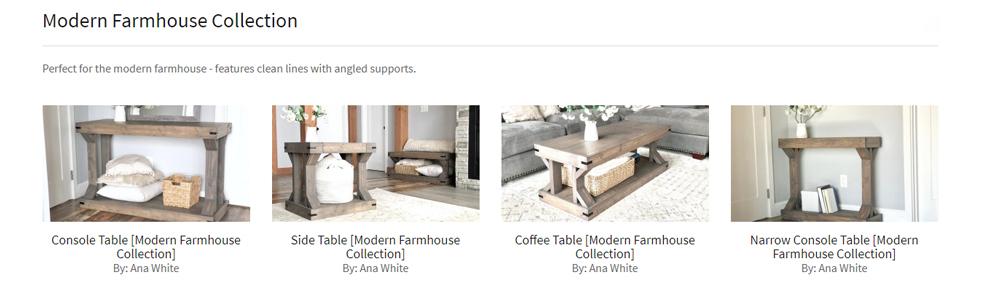 modern farmhouse side tables