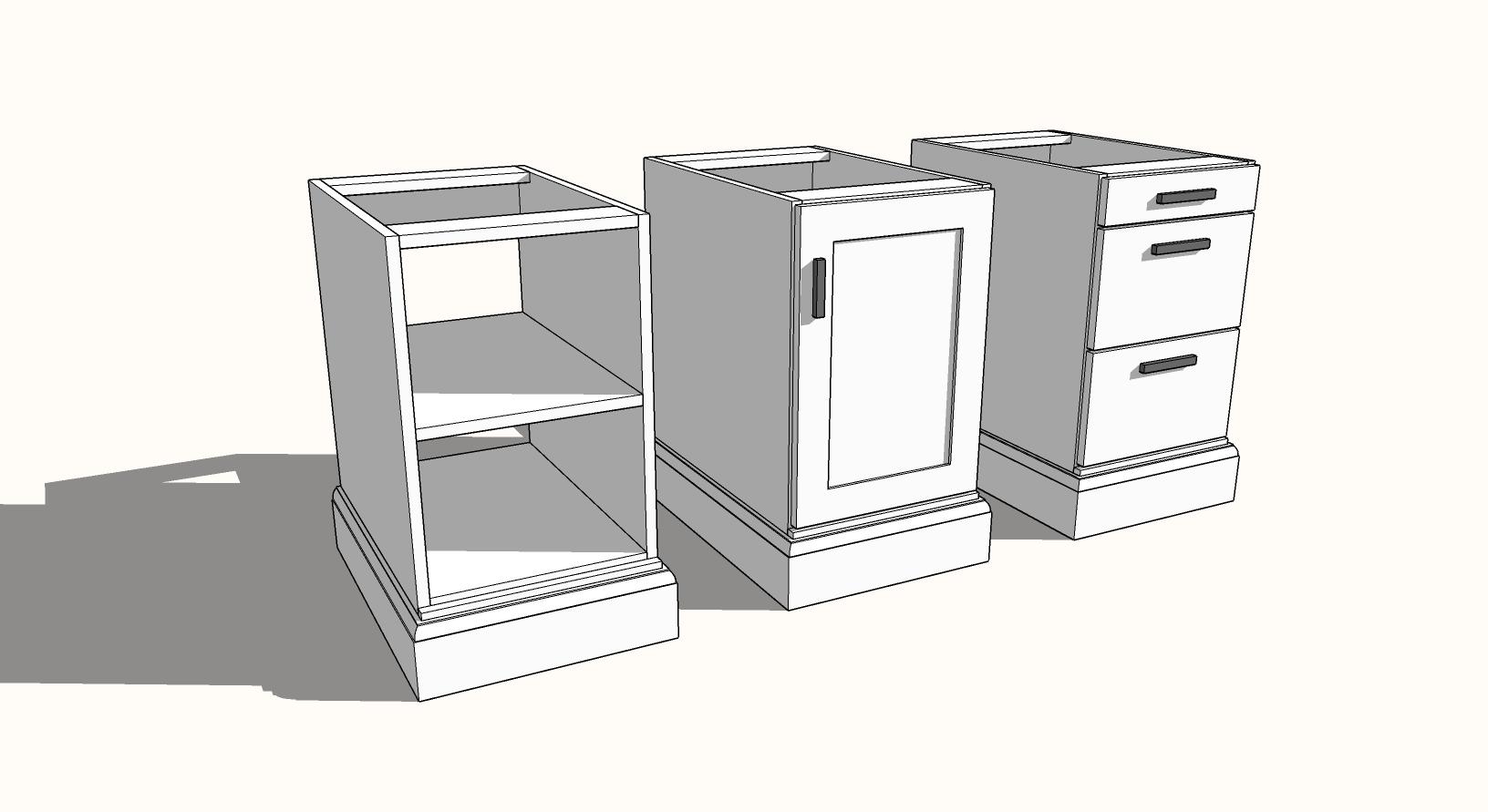 modular desk template plan