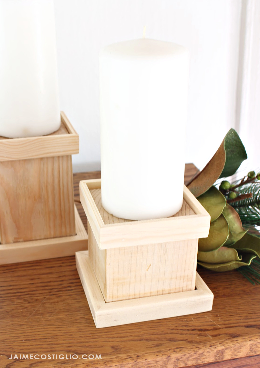 Rustic Wooden Candle Holders Ana White