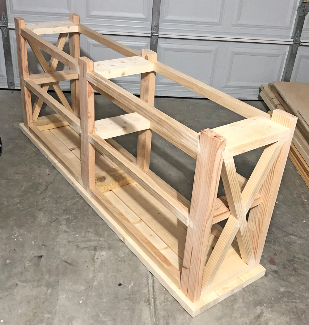 farmhouse console table build it yourself diy