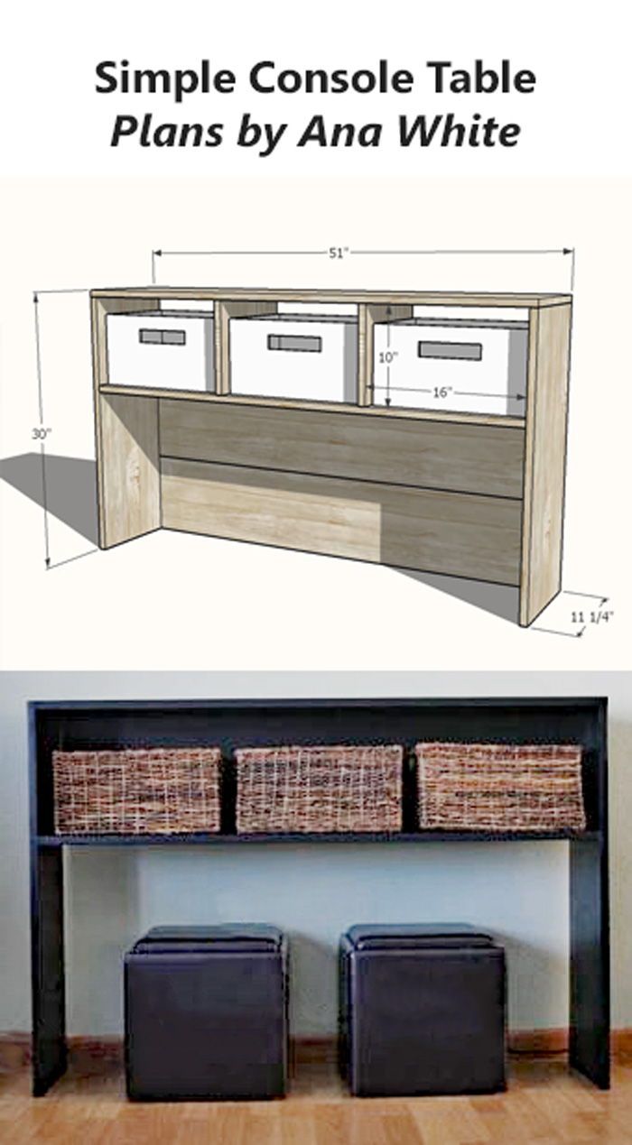 simple modern console table plans