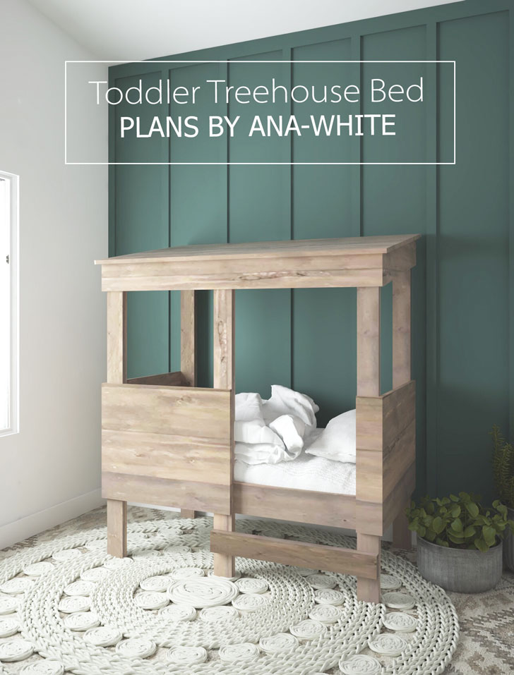 plans for a toddler playhouse bed