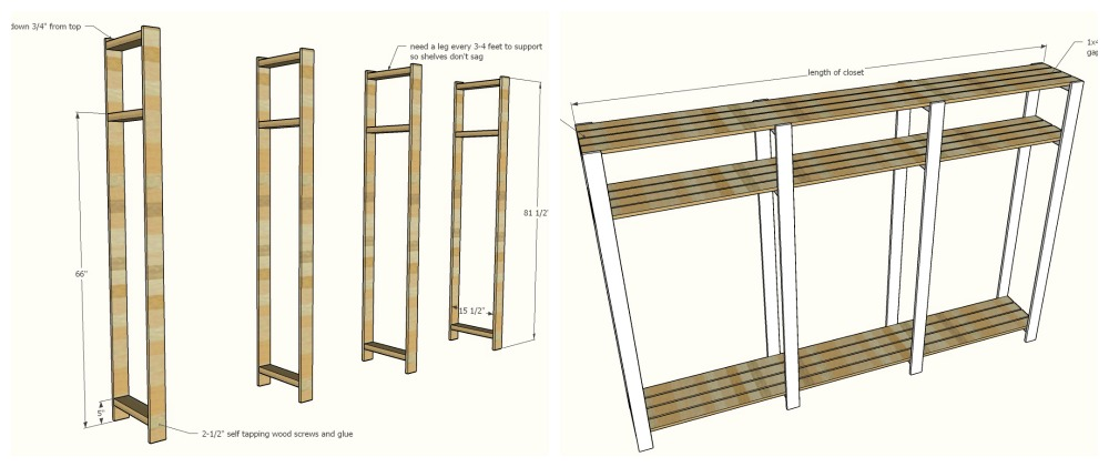 wood closet shelving how to steps