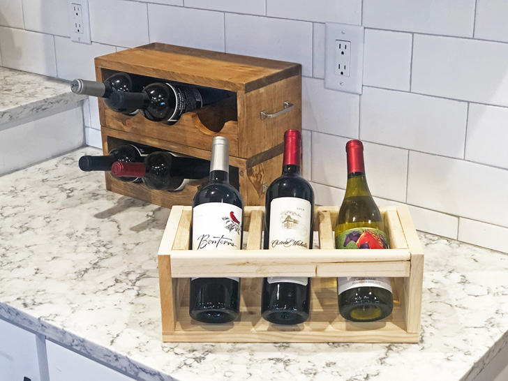 wood wine holder stackable