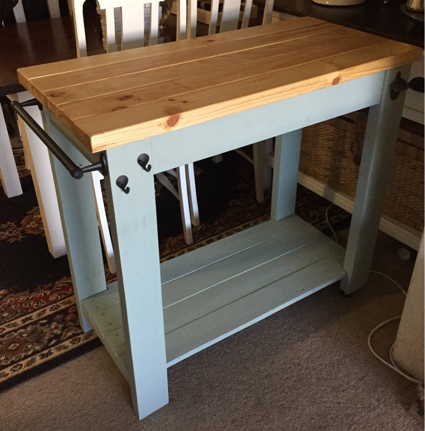 Kitchen Island Trolley ana white | kitchen island trolley - diy projects