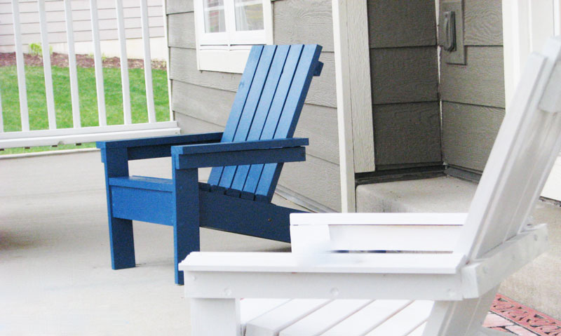 kids adirondack chair plans blue and white