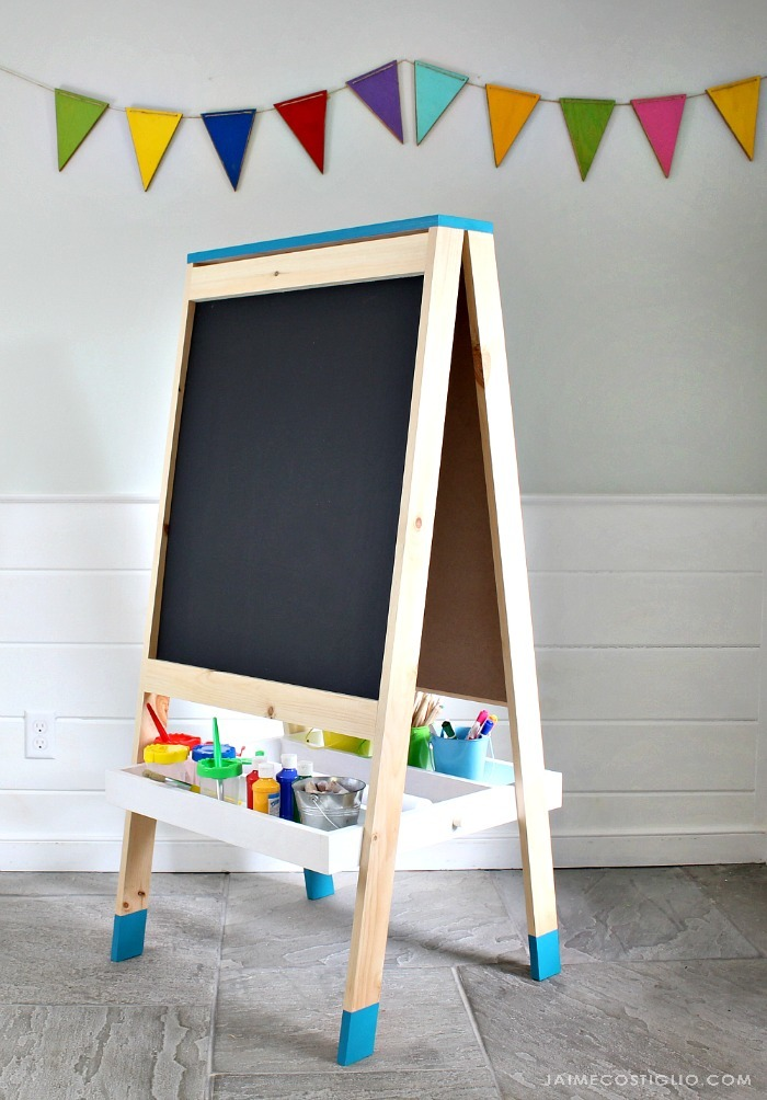 ana white easel for kids diy projects