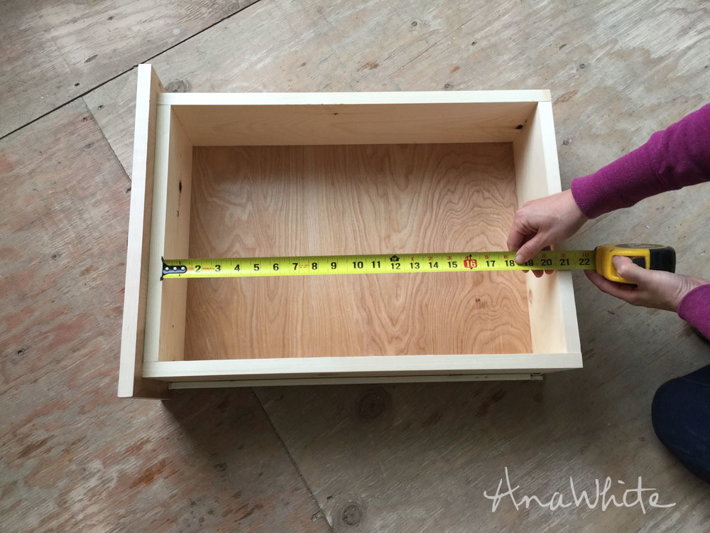 Determine Length Of Smaller Drawer   Measure The Length Of The Inside Of  Your Existing Drawer. Drawer Slides Come In Specific Sizes, I Recommend  Making The ...