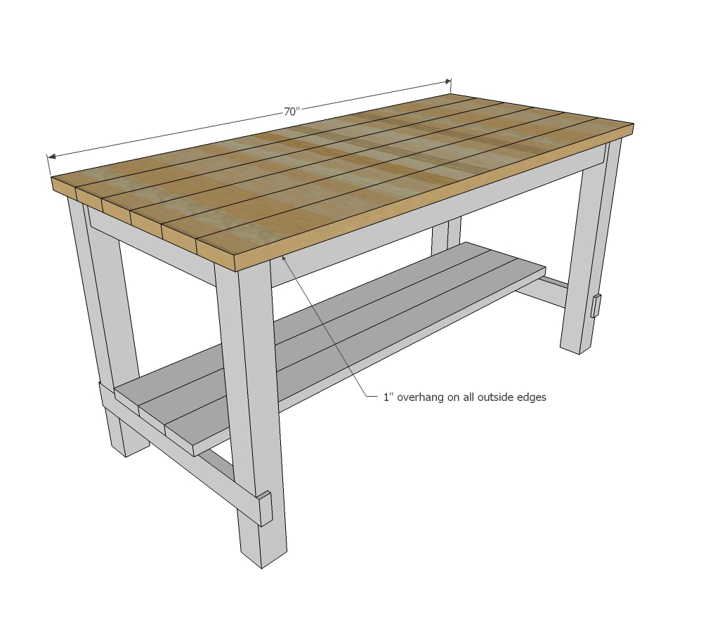 Ana white farmhouse style kitchen island for alaska lake cabin diy projects Kitchen island plans
