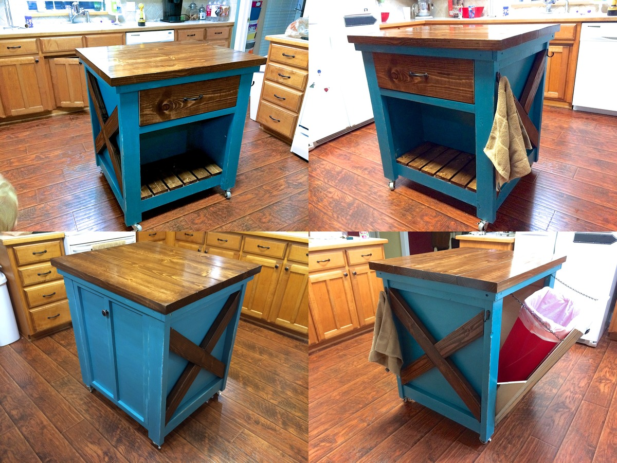 Ana White | Kitchen Island with Trash Bin - DIY Projects