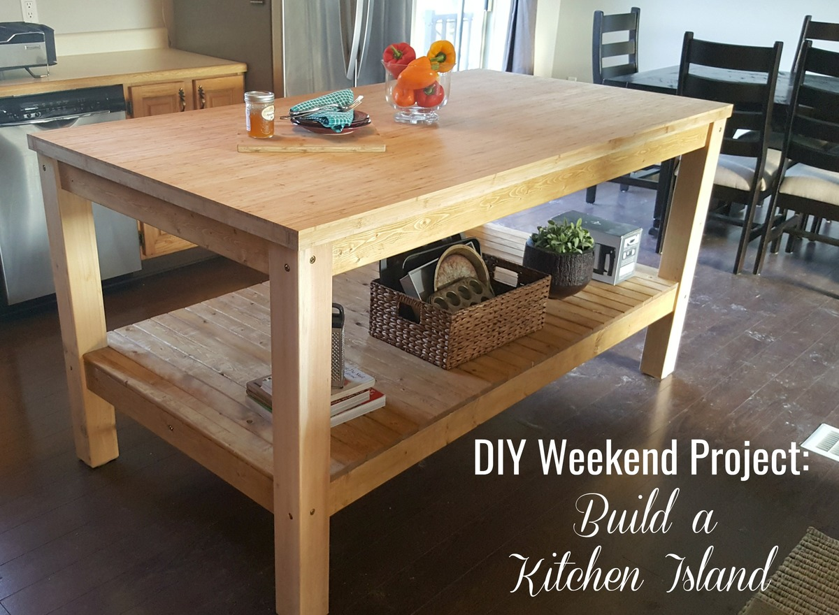 diy kitchen island plans white weekend project diy kitchen island diy projects 6849