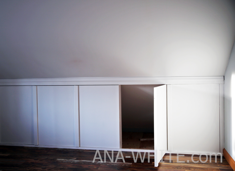 Ana White Hidden Door Knee Wall Diy Projects
