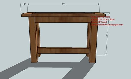sofa table plans. Sofa Table Plans S