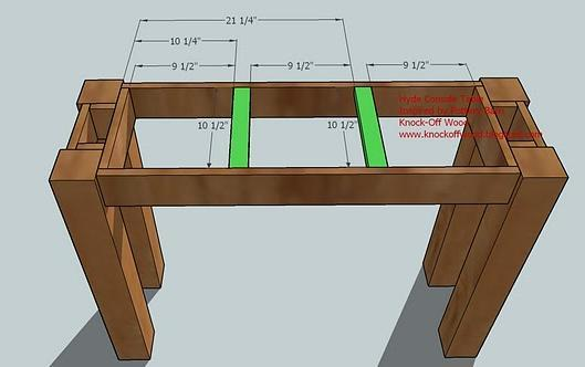 step 5 instructions fasten the tabletop support pieces green as