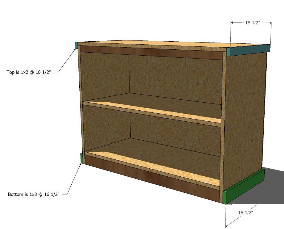Use The 2 Finish Nailers And Nail Through Sides Top Shelves Into Edges Of Inside Front Trim Bottom Pieces