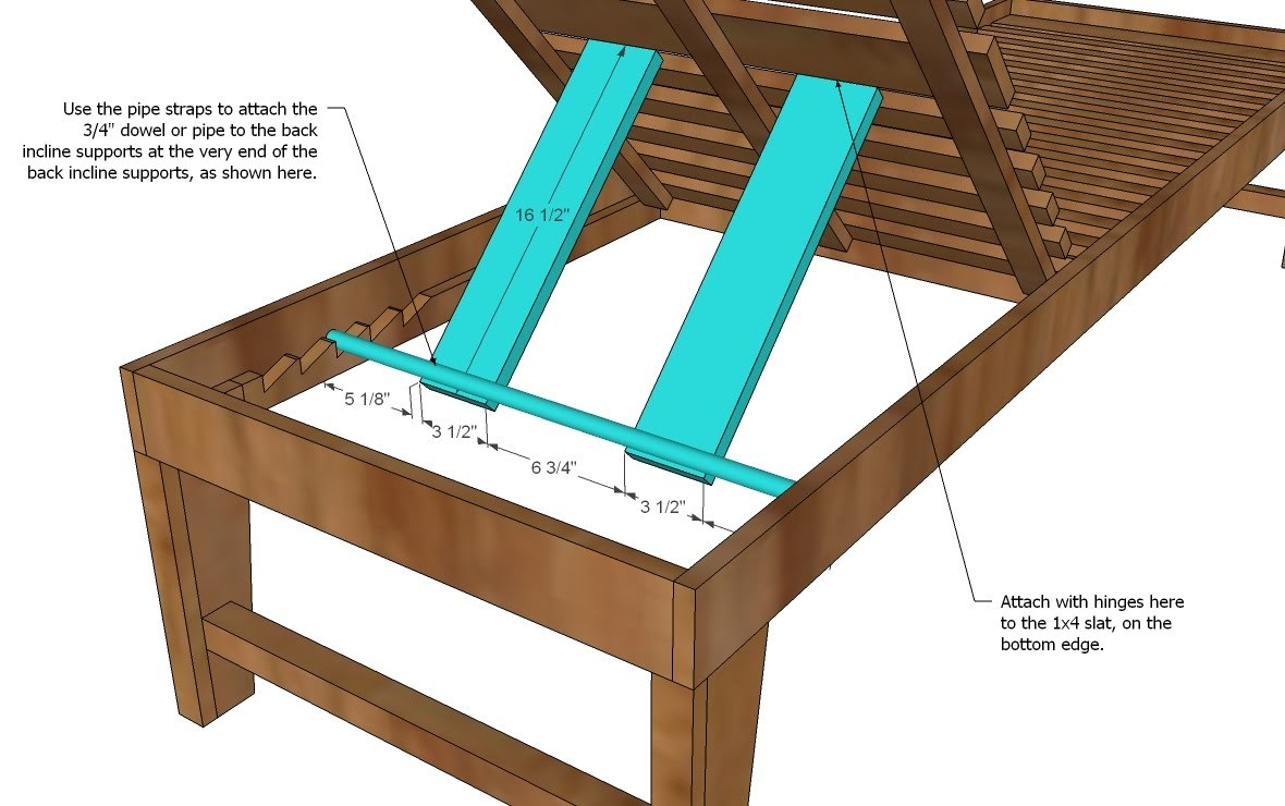 Diy build a chaise lounge plans free for Build chaise lounge