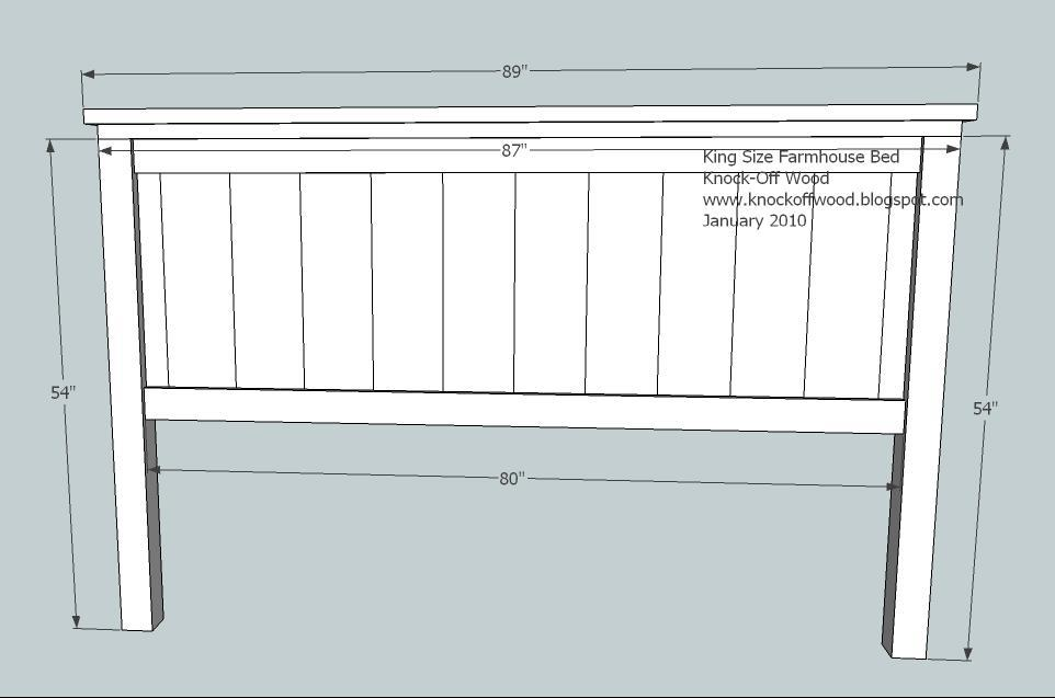 Ana white farmhouse king bed plans diy projects for Farmhouse bed frame plans