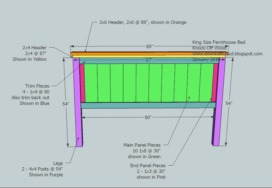 Bench Design : King size bed woodworking plans in sketchup