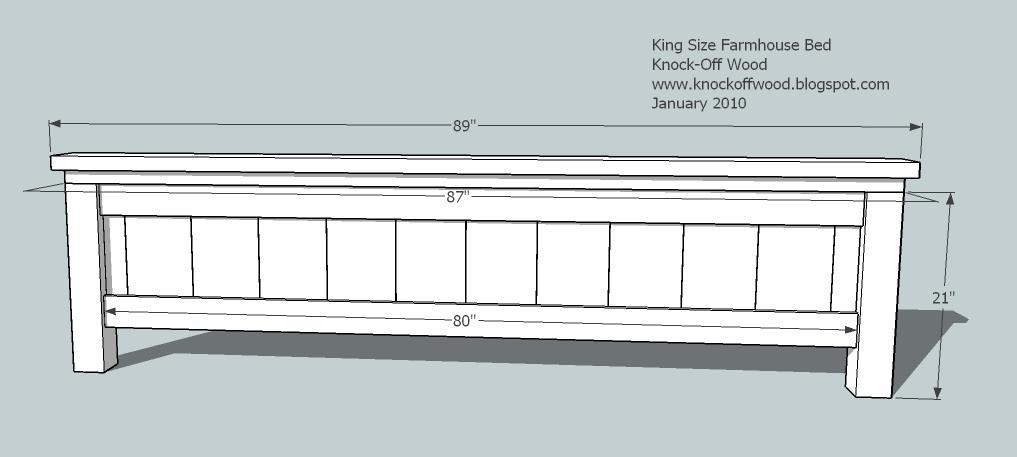 ana white  farmhouse king bed plans  diy projects, Headboard designs