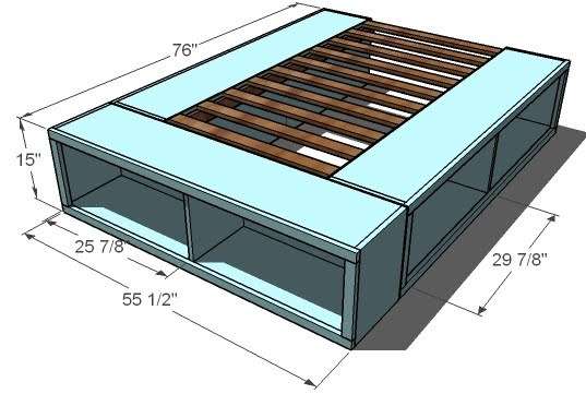 You Will Need To Review The A Href 2010 05 Furniture Plans Full Size Storage Bed Html Make Longer Side Cubbies First