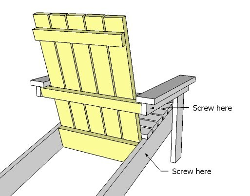 Adirondack Chair Designs lolls 4 slat adirondack chair Ana White How To Build A Super Easy Little Adirondack Chair Diy Projects