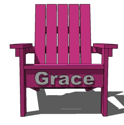 Ana white how to build a super easy little adirondack for Easy chair designs