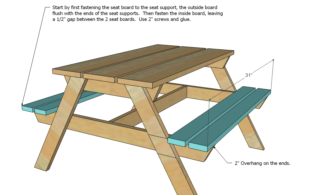 . Ana White   Preschool Picnic Table   DIY Projects