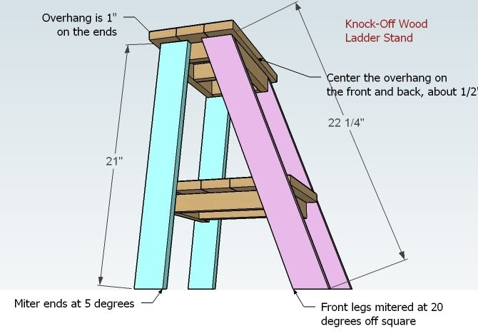 ... | Super Easy but a Little Tricky Ladder Table Plans - DIY Projects