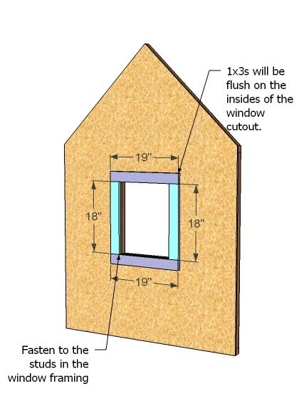 Ana white playhouse gable end walls diy projects for What do i need to do to build a house