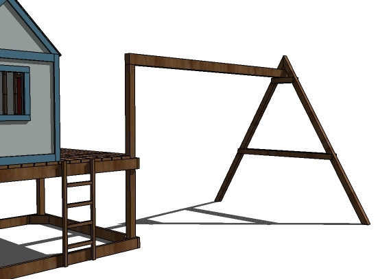 Ana White | How to Build a Swing Set for the Playhouse ...