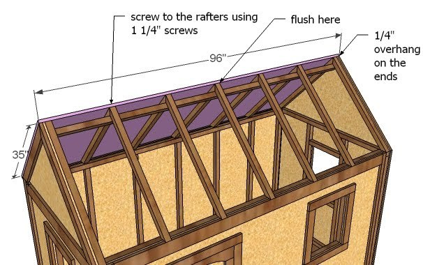 Build A Simple Playhouse Roof Ana White