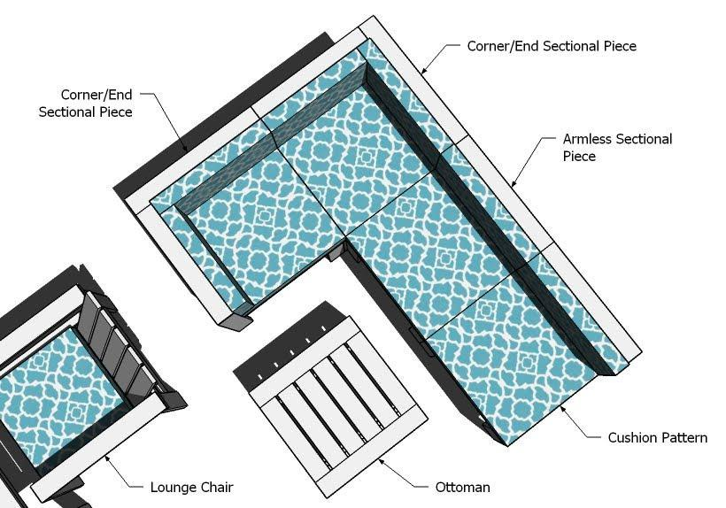 Ana white corner and ends for outdoor sectional diy for Outdoor sofa plans