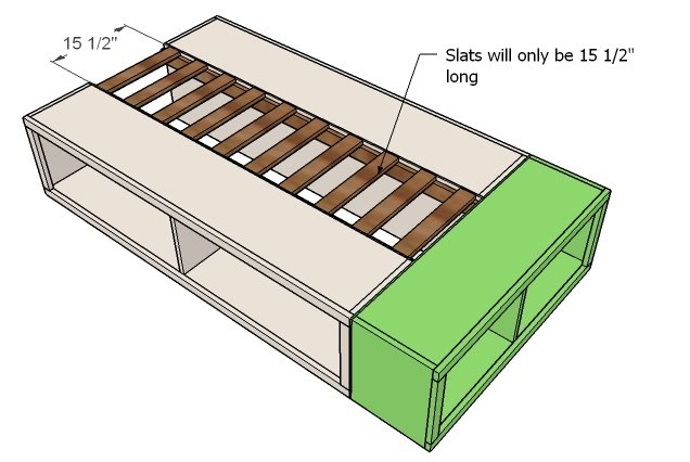 ... but if you are staining the screw heads will be difficult to hide. Another option is to build the frame using a Kreg Jig™ and then attach to the face.  sc 1 st  Ana White & Ana White | Twin Storage (Captains) Bed - DIY Projects