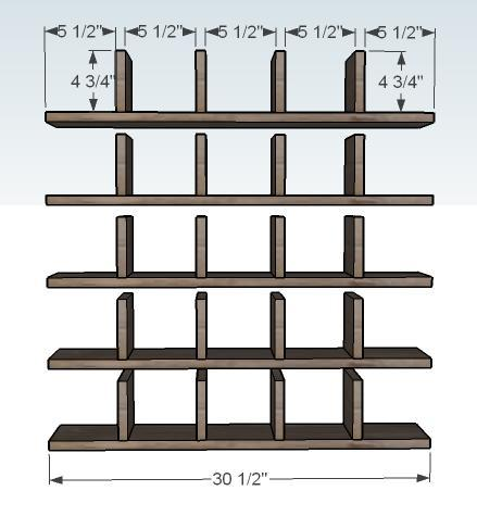 20 1 6 4 3 Cubby Dividers 2 31 Sides S Plywood 28 X 32 Back