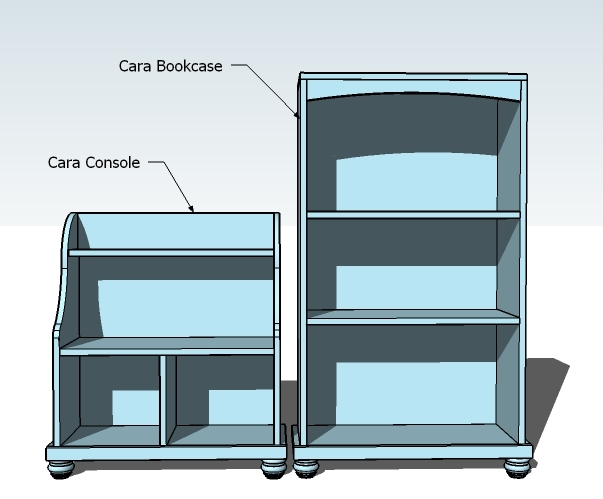 A Bookcase That Completes The Cara Console And Pair